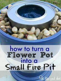 Flower Pot Fire Pit for Smores