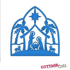 """CottageCutz Die 4""""X4""""-Nativity Silhouette Made Easy 