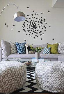 borboletas na parede