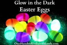 """Glow in the Dark Easter Eggs.  Make a """"string of easter eggs"""" by sticking them on a string of christmas lights!"""