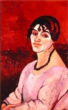 Self-Portrait - Suzanne Valadon,  1918, Private Collection