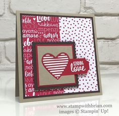 Sealed with Love, Love Notes Framelits, Stampin' Up!, Brian King