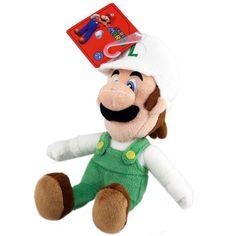 "Toy - Super Mario - Plush - Fire Luigi - 9"" (Nintendo)"