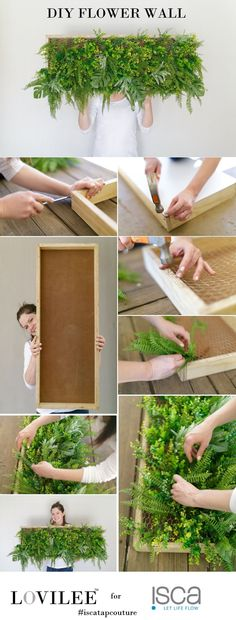 Going Green: How to make on-trend faux flower wall art   Lovilee Blog & Online Decor Shop.