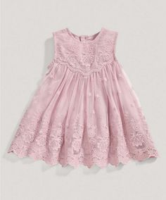 Girls Pink Lace Dress - Special Occasion/Christening - Mamas & Papas
