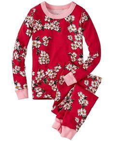 "Kids Long John Pajamas In Organic Cotton from #HannaAndersson. 3-5 100cm 38-42"", 31-38 lbs."