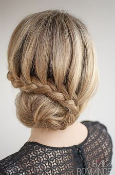 lace braid side bun