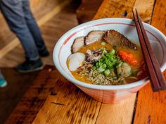 The best ramen in Chicago is filled with tender pork belly, hand-pulled noodles and molten eggs. Best Ramen Noodles, Japanese Soup, Pork Belly, Served Up, Canning, Eat, Ethnic Recipes, Handle, Food