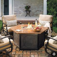 these are so much nicer than a fire pit!!  And less mess to clean afterwards, too!