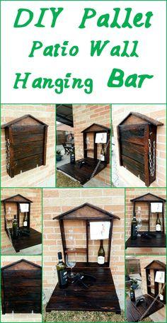 DIY Pallet Patio Wall Hanging Bar | 99 Pallets