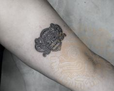 Small Barong tattoo,small Balinese tattoo on inner arm, inked by Cap Bagong Tatu studio, Ubud, Bali, Indonesia. #Balinesetattoo #smalltattoo #innerarmtattoo #innerarm Balinese Tattoo, Barong, Ubud, Tattoo Small, Arm, Skull, Studio, Tattoo, Studios
