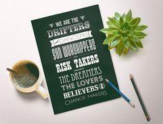 TNS Manifesto // Typography Print, Life Quote, Motivational Print, Inspirational Print, Black and White, Gypsy, Wall Decor, Home Decor