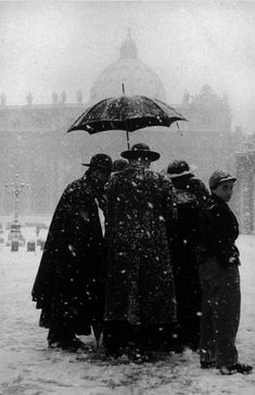 Winter at the Vatican, Rome, 1958