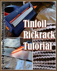 """This tutorial shows how to make the """"Tinfoil Waffle Cloth"""" that is the basis for rickrack and all sorts of bling!"""
