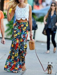 How To Wear Palazzo Pants: pair it with a boxy, cropped top