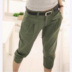 Wholesale Pants & Capris - Buy Korean Summer Casual Capris Trousers Loose Harem Pants Army Green/Black/Khaki Plus Size Leggings For Women L5147, $29.47   DHgate