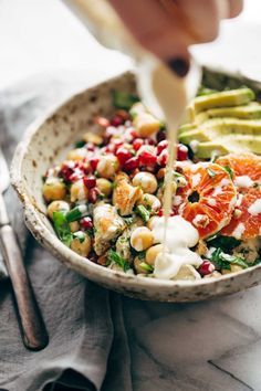 Winter Spa Salad with Lemon Chicken | pinchofyum.com _ w/out chicken