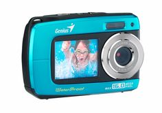 """Capture your summer with the G-Shot 510 Underwater Dual LCD, waterproof feature and built-in dual panels (front 1.8"""" and back 2.7""""). You can immediately take underwater photos/videos up to a depth of 3 meters diving and playback these files while you're still in the water. http://zocko.it/LESk8"""