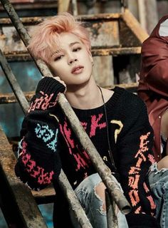 Big Hit tryin' to kill me over here. I've always wanted to see Jimin try this hair color and now that he has its officially my new fave on him ❤ #BTS #biaswrecker