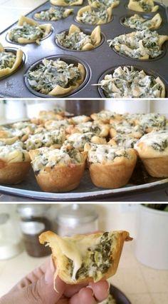 spinach & artichoke bites