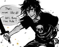 """minuiko: """" Frank heard a laugh behind him. He glanced back and couldn't believe what he saw. Nico di Angelo was actually smiling. - The House of Hades """""""