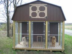 85206b16cdc7e26dd83407594a3aee3b--dog-pen-kennel-ideas