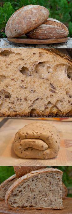 Хлеб с льняным семенем. - Любопытный Буратино