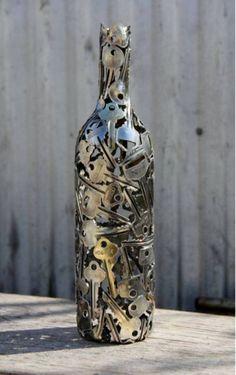 Decoracion reciclando llaves