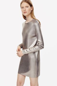 Metallic coated dress
