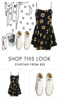 """""""YOUTH"""" by thaisa1989 ❤ liked on Polyvore featuring Converse"""
