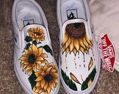 Tell me your custom idea by TheBusyyBean on Etsy Painted Canvas Shoes, Painted Vans, Custom Painted Shoes, Custom Slip On Vans, Custom Vans Shoes, Vans Shoes Women, Cute Vans, Western Shoes, Aesthetic Shoes