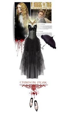 """2 : Indulge Your Dark Side with Crimson Peak : Contest Entry"" by luigiamaria ❤ liked on Polyvore featuring BCBGMAXAZRIA, Miu Miu, Posh Girl, Finders Keepers and vintage"