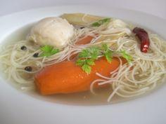 Vasárnap 1:Csirkehúsleves Spaghetti, Ethnic Recipes, Food, New Recipes, Essen, Meals, Yemek, Noodle, Eten