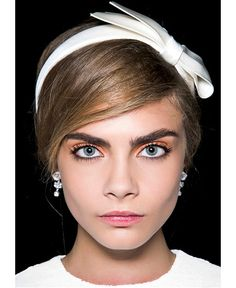 Embody the spring vibe with pastel lids and pastel lips, finished with a pop of feminine pigment on your cheeks. If Cara D can, then so can ... Spring Beauty. Summer Beauty Trend 2013/14.
