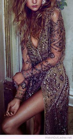 Amazing beaded gown