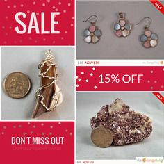 15% OFF on select products. Hurry, sale ending soon!  Check out our discounted products now: https://www.etsy.com/shop/Donnasuniquewirewrap?utm_source=Pinterest&utm_medium=Orangetwig_Marketing&utm_campaign=First%20Sale%20for%202017   #etsy #etsyseller #etsyshop #etsylove #etsyfinds #etsygifts #musthave #loveit #instacool #shop #shopping #onlineshopping #instashop #instagood #instafollow #photooftheday #picoftheday #love #OTstores #smallbiz #sale #instasale
