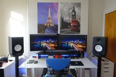Dual 4K video production sit/stand station : battlestations
