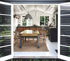 A beach shack kitchen with not much fuss but plenty of style.  #jeffreyalanmarks #JAM #Themeaningofhome