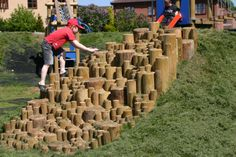 play equipment – Old School Garden Kids Play Spaces, Outdoor Play Spaces, Kids Play Area, Outdoor Toys, Playground Design, Backyard Playground, Backyard For Kids, Playground Ideas, Natural Play Spaces