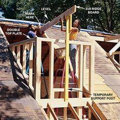 How To Frame A Gabled Dormer The Family Handyman House