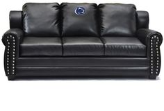 Penn State Nittany Lions Coach Leather Sofa. Visit SportsFansPlus.com for discount coupon.