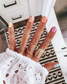 What manicure for what kind of nails? - My Nails Gradient Nails, Acrylic Nails, Galaxy Nails, Diy Nails, Cute Nails, Speing Nails, Trendy Nails, Nagel Tattoo, Nagellack Trends