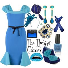 My creation inspired by the fashions of The Hunger Games Capitol.