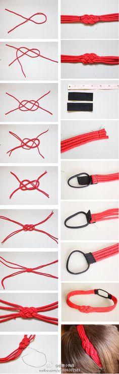 Nautical headband DIY