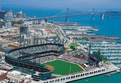AT & T Park, home of the San Francisco Giants baseball team.