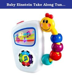 Baby Einstein Take Along Tunes (MULTI, 2). Baby Einstein's Take Along Tunes music player features seven classical melodies recreated just for little ears! Large, easy-to-push buttons trigger playback of quality-sounding masterpieces from Chopin, Mozart, and more. As the melodies play, colorful lights dance behind the screen and flashes to the rhythm of each melody to help keep baby engaged. The comfortable caterpillar handle makes it easy for little hands to enjoy classical tunes wherever...