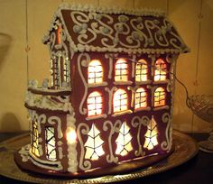 baked gingerbread house in Finland Gingerbread House Designs, Gingerbread Decorations, Christmas Gingerbread House, Christmas Home, Christmas Cookies, Christmas Holidays, Christmas Decorations, Xmas, Christmas Crafts