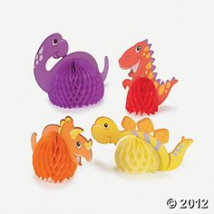 Dinosaur Birthday Centerpieces (6pieces) -$5     #YoYoBirthday