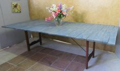 Shabby Chic Home Decor Shabby Chic Tops, Shabby Chic Decor, Fold Up Table, Folded Up, Solid Wood, Tables, Dining Table, Frame, Furniture