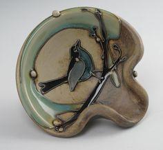 Bird Spoon Rest by CarolLongPottery on Etsy, $35.00